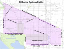 Dc Traffic Map Red Top Meter Rules To Kick In For Dc U0027s Central Business District