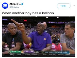 Magic Johnson Meme - magic johnson when another boy has a balloon know your meme