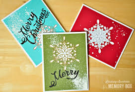 a snowflake card trio by lindsay outside the box