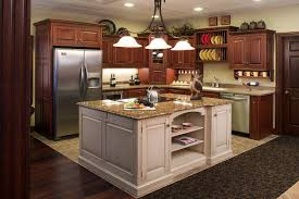 Kitchen Island Decorating by Furniture Exquisite Brown Glossy Counter Top In White Wooden