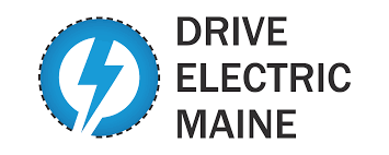 electric vehicles logo drive electric maine gpcog