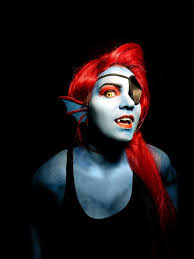 Halloween Makeup Me by Undyne The Undying From Undertale Makeup Done By Me Ear Pieces Are