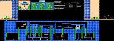 Super Mario World Map by Mario Brothers 3 World 7 5 Nintendo Nes Map