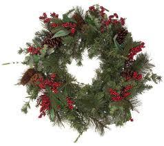 solar powered 24 prelit winterberry wreath page 1 qvc