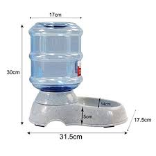 l with water fountain base amazon com zehui automatic pet feeder with transparent barrel