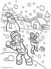 january coloring pages for kindergarten winter coloring pages for kids