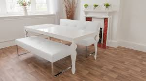 White Leather Benches White Dining Bench Modern White Leather Bench Metal Legs