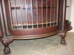 antique china cabinets for sale 1800 s lead glass china cabinet w curve glass sides for sale
