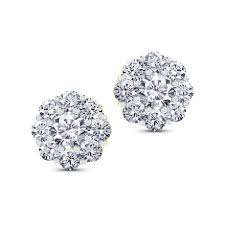 diamond earrings with price classic nine diamond studs jewellery india online