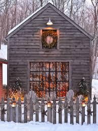 outdoor spaces winter lights snow outdoor christmas winter