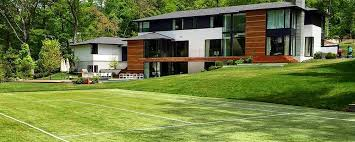 synthetic grass tennis court in weston ma