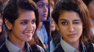 Wink Face Meme - who is priya prakash varrier the face behind the heart throbbing