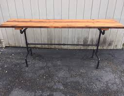 rough hewn raise the bar table reclaimed wood dining table