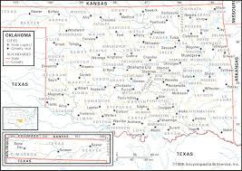 State And County Maps Of Oklahoma County Prepossessing Map Of Oklahoma Counties