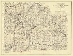 Zip Code Map Fresno Ca by Old State Map Sierra National Forest California 1938