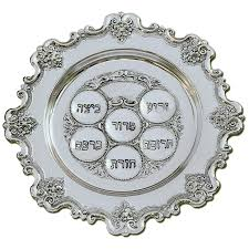 passover seder supplies silver plated seder plate for the messianic seder
