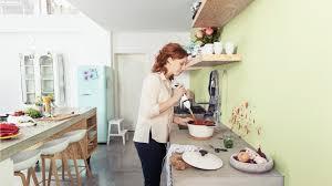 peinture murale cuisine lavable idée de modèle de cuisine