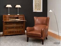 ledersessel design ledersessel antik braun mit polyätherschaum sitzfläche und holzfüße