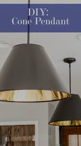 diy light pendant diy cone pendant lights cheap and easy to make