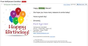Samples Of Birthday Greetings Birthday Email Marketing Campaigns