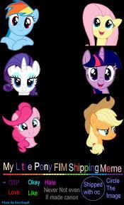 Meme My Little Pony - my little pony fim shipping meme by emostep on deviantart
