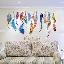 Feather Wallpaper Home Decor Compare Prices On Feather Wall Sticker Online Shopping Buy Low