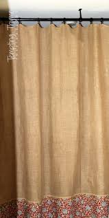 Homemade Curtains Without Sewing No Sew Burlap Shower Curtain Tempting Thyme
