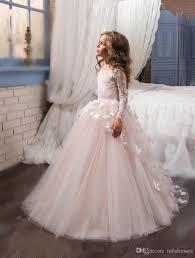 communion dresses nj 2017 new princess hot pink sleeves gown flower girl