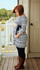 maternity consignment fall maternity fashion wearing stripes motherhood closet