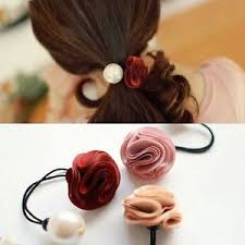 pearl hair accessories stylish roses flower pearl hair accessories hair band h8
