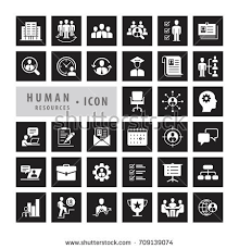 human resources icons set career job stock vector 711524779