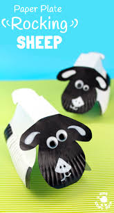 rocking paper plate sheep craft kids craft room