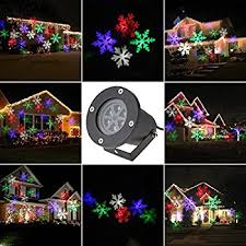 Christmas Decoration Lights Amazon Com Upgrade Howsan Rotating Rgb Projection Led Lights
