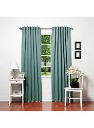 turquoise back tab thermal insulated blackout curtain 104