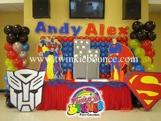 transformers party decorations autobot fuel for our transformer party liam s 3rd rescue bots