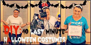 diy 10 last minute halloween costumes youtube