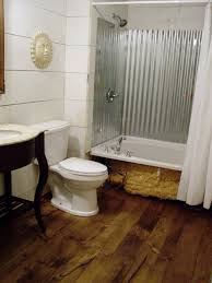 Diy Bathroom Shower Ideas Diy Wide Plank Pine Flooring Corrugated Shower Tub Enclosure