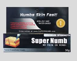 30g super numb lidocaine numbing cream painless tattoo piercings