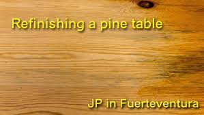 refinish a pine table youtube