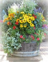 Cheap Tall Planters by Wine Barrel Planter Garden Yard Ideas Pinterest Wine Barrel