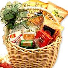 Snack Basket Delivery Western Themed Gift Basket For Him