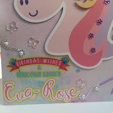 custom birthday cards unicorn birthday card unicorn party large birthday card custom
