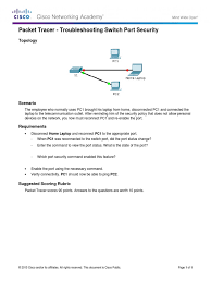 2 2 4 10 packet tracer troubleshooting switch port security