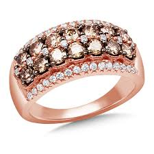 rose gold rings necklace images Rose gold color diamond ring png