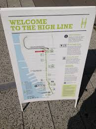 Walking Map Of Manhattan New York City by A Walk On The High Line New York City