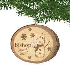 Wooden Christmas Decorations Bulk by Family Birch Wood Print Personalized Christmas Ornament
