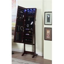 jewelry armoire mirror mirrored jewelry armoire cabinet black