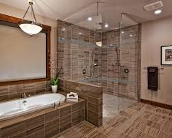 Bathroom With Open Shower Excellent Brilliant Open Shower Bathroom Design H14 For Home