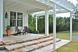james hardie cement deck contemporary with outdoor seating wall