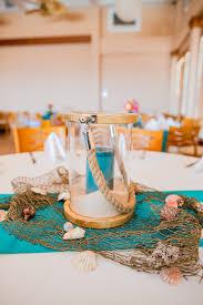Beach Centerpieces For Wedding Reception by A Very Beachy Blue Coral Wedding In North Carolina Beach Wedding